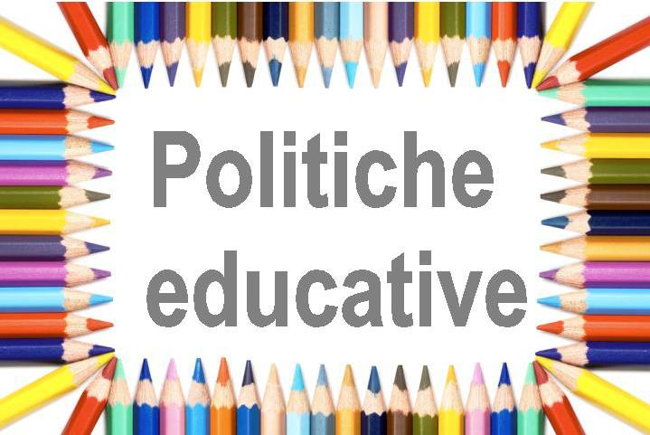"""La scritta """"Politiche educative"""""""