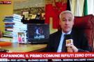 Il sindaco Giorgio Del Ghingaro durante il servizio su Sky TG24