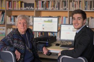 L'assessore Francesconi e la presidente dell'associazione, Colombo Cesarano
